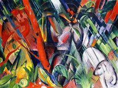 In de regen ~ 1912 ~ Olieverf op doek ~ 81 x 105 cm. ~ Städtische Galerie im Lenbachhaus, München