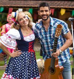 Gusttavo Lima contou para Angélica como conquistou Andressa Suita (Foto: Fabiano Battaglin / Gshow)