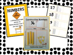 A Differentiated Kindergarten: Constructing Numbers . . . An Independent Place Value Freebie!