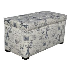 @Overstock - Give your home a new look with this fashionable Angela Paris Match storage trunk from Sole Designs. This functional storage trunk features a beautiful button-tufted design with a Parisian-themed fabric upholstery.http://www.overstock.com/Home-Garden/Sole-Designs-Angela-Paris-Match-Blue-Storage-Trunk/7509469/product.html?CID=214117 $137.99
