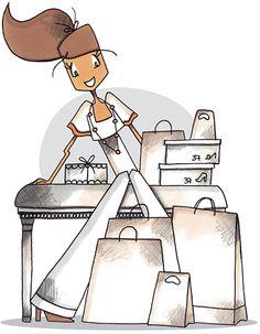 Love to Shop ‿✿⁀ Mad'moiselle C Bastille, Female Images, Lady Images, Craft Images, Ballet Fashion, Shop Till You Drop, Illustration Girl, Love To Shop, Digi Stamps