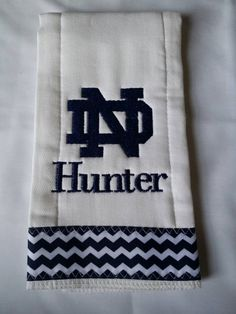 Notre Dame Burp Cloth for Baby Boy  by ItsOhSewDarling on Etsy