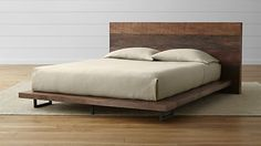 Atwood Bed without Bookcase Footboard I feel like this could easily be made.