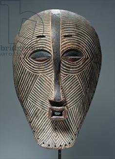 Kifwebe Mask, Luba Culture, from Democratic Republic of Congo (wood)