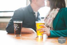 my kind of engagement photo. where beers {craft beers at that} are involved.