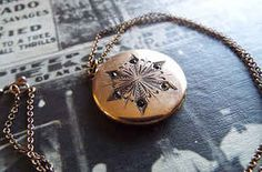 add a vintage snowflake locket to the list of things I want