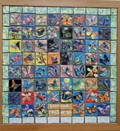 Ceramic tile murals dss art projects for kids on for Crossing the shallows tile mural