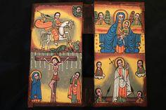 Äthiopien: Ikone,Leder koptisch orthodox Ethiopian: coptic orthodox Icon Leather
