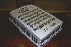 Happy Birthday Sheet Music Cake