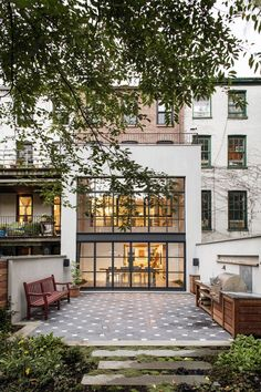 Indoor/Outdoor Living, Brooklyn-Style Cumberland Terrace in Fort Greene, Brooklyn by Elizabeth Roberts/Ensemble Architecture Interior Exterior, Exterior Design, Interior Architecture, Exterior Remodel, Classical Architecture, Ancient Architecture, Sustainable Architecture, Landscape Architecture, Indoor Outdoor Living