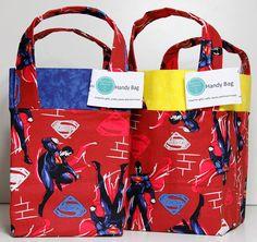 Superman Man of Steel  Square Based Handy Bags