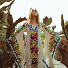 Image of Woodstock Caftan - Blue