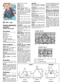 I'm reading 067_137_021 Patron Bergère de France Boléro, Débardeur, Bonnet on Scribd