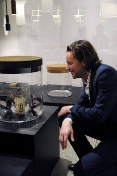 Frederik Roijé photographed by gimmii.nl with his Treasure tables. For sale at gimmii.nl