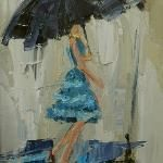 Dancing in the Rain by Kathryn Trotter. I must try knife painting again, but it's soooooo hard to work loose and not pick at the oopsies. Easy Canvas Painting, Painting & Drawing, Canvas Art, Knife Painting, Umbrella Painting, Umbrella Art, Rain Art, True Art, Dancing In The Rain