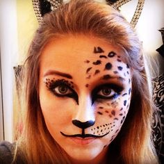 We're always trying to find our next best Halloween costume. If you're feeling feline, we've got a litter of cat-tastic tutorials right here, including a full leopard face and Grumpy Cat. Take your Halloween makeup to the next level with … Cheetah Makeup, Cheetah Face, Fox Makeup, Animal Makeup, Face Paint Makeup, Kids Makeup, Leopard Face Paint, Cheetah Print, Makeup Ideas