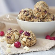 Cranberry White Chocolate Protein Energy Bites