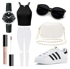 """""""Untitled #66"""" by chelsea-beale ❤ liked on Polyvore featuring adidas, Topshop, Charlotte Russe and Movado"""