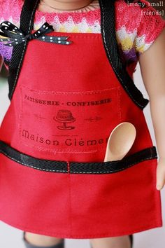 Patisserie Apron Sewing Pattern and Tutorial American Girl