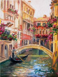 Original OIL Painting LANDSCAPE Venice Italy by JBeaudetStudios    ...BTW,Please Check this out:  http://artcaffeine.imobileappsys.com