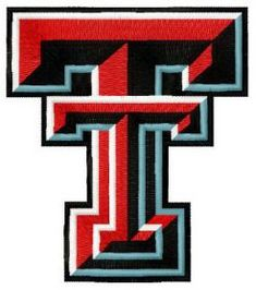 Texas Tech Red Raiders and Lady Raiders logo machine embroidery design