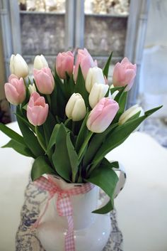 pink & white, very romantic looking.