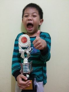 Congrats my boy, you are the first n you are our JUARA!!!