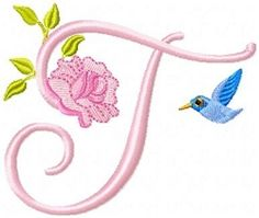 Roses And Daisies Alphabet | Featured Products | Machine Embroidery Designs | SWAKembroidery.com