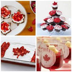 The Polka-Dot Umbrella: Canada Day Round Up Canada Day Flag, Canada Day Party, O Canada, Summer Recipes, Holiday Recipes, Happy Birthday Canada, Flag Cake, Canada Holiday, Lumberjack Party