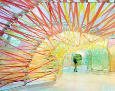 Le pavillon d'été de la galerie Serpentine par SelgasCano.#dccv #ducotedechevous #deco #archi #lumière #couleurs #colors #serpentine #galerie #selgascano