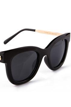 #romwe Rounded Black Sunglasses