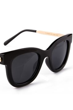 #Romwe Rounded Black Sunglasses