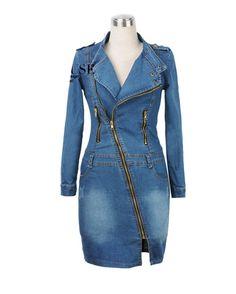 Kawen Women's Sexy Side Zipper Slim Denim Dress at Amazon Women's Clothing store:
