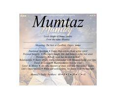 Mumtaz name means excellent | Firstnamelist.org