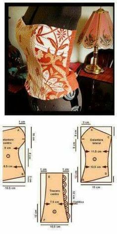 Corset pattern but maybe the base for topless gown. how to add bonding to top of a dress. Comments in Topic Dress Sewing Patterns, Sewing Patterns Free, Free Sewing, Clothing Patterns, Blouse Patterns, Sewing Hacks, Sewing Tutorials, Sewing Crafts, Sewing Projects
