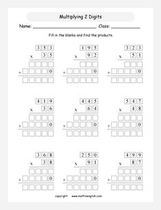 Printable primary math worksheet for math grades 1 to 6 based on the Singapore math curriculum. Grade 6 Math, 4th Grade Math Worksheets, Math Drills, Math Pages, Math Assessment, Singapore Math, Math Multiplication, Primary Maths, Learn English Words