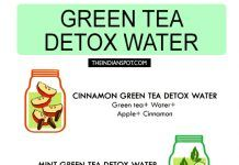 GREEN TEA DETOX WATER RECIPES FOR CLEANSING AND WEIGHT LOSS