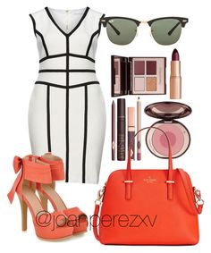 """""""Untitled #163"""" by joanperezxv on Polyvore featuring Gina Bacconi, JY Shoes, Ray-Ban, Charlotte Tilbury and Kate Spade"""