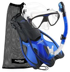 Phantom Aquatics Sd Sports Mask Fin Snorkel Set Snorkeling Fins Water