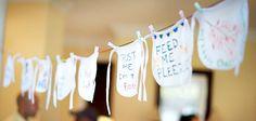 Each guest decorate a bib! Fun activity :).