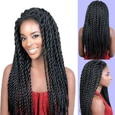 26inch 2X Twist Braids Wig Synthetic Lace Front Wig long black Senegalese Twist Wig for Black Women