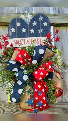 4th July Crafts, Fourth Of July Decor, 4th Of July Decorations, July 4th, 4th Of July Wreath, Americana Crafts, Patriotic Crafts, Wreath Crafts, Diy Wreath