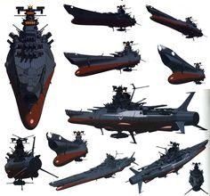 Spaceship Drawing, Yamato Battleship, Army Jokes, Arpeggio Of Blue Steel, Star Blazers, Space Battles, Super Robot, Space Ship, War Machine