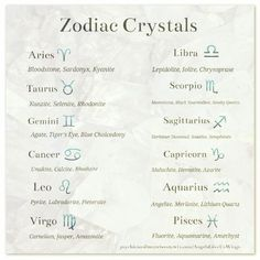 Crystals for the Zodiac signs