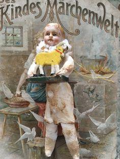 Watte Wattefigur ,Porzellankopf 15 cm Junge Christbaumschmuck Federbaum | eBay