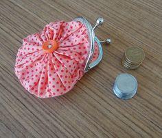 dincanto: porta moedas de fuxico