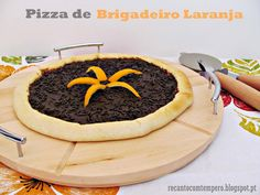 Pizza de brigadeiro laranja