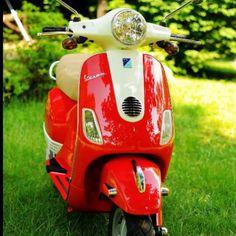 Red Vespa Red Vespa, Motorcycle, Vehicles, Motorcycles, Car, Motorbikes, Choppers, Vehicle, Tools