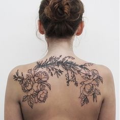 Botanical/floral tattoo by Olga Nekrasova #tattoo #ink