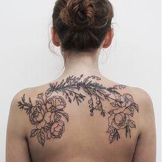 Botanical/floral tattoo by Olga Nekrasova #tattoo #ink